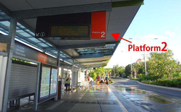 Cairns City bus station